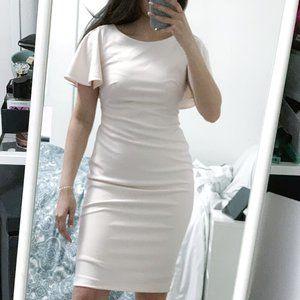 Calvin Klein formal pink midi knee length dress 4